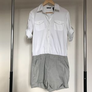 New York & Company White and Grey Romper w. Tags